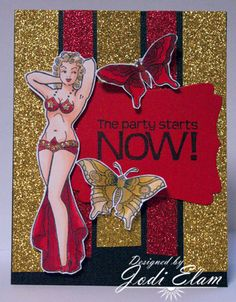 The Party Starts Now featuring Butterfly Queen by Bombshell Stamps License Plate Art, Old Love, Copics, Bombshells, Stamps, Butterfly, Graphic Design, Queen, Fine Art