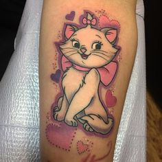 Did this tattoo awhile back, Marie from aristocats #disneytattoo #disneyrules