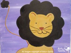 We will be painting the Lion tomorrow at Arts n Spirits.     If you are looking for something fun to do with the family, come join us for family day tomorrow at 2pm.      Kids are just $30, and painting adults are $35.
