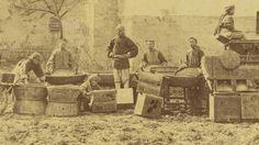 Tea Drying and Roasting before Transportation. Yangloudong Village, Hubei Province, China, 1874.