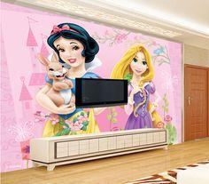 Custom papel DE parede infantil,pink princess cartoon for boys and girls room children room background  waterproof wallpaper  #Affiliate