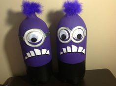 4 Purple Minion Birthday Party Centerpieces by PartyPlaza on Etsy, $29.95