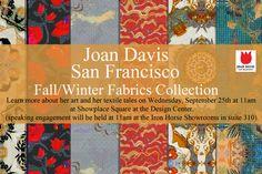 Joan Davis San Francisco, Fall/Winter Fabric Collection.