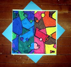 ArtMuse67: Symmetrical Warm and Cool Compositions 3rd grade