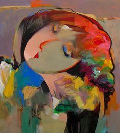 Pega by Hessam Abrishami 20 x 18 Portrait Acrylic, Abstract Portrait, Portrait Art, Portraits, Different Art Styles, Fine Art Gallery, Figure Painting, Watercolor Illustration, Artist Art