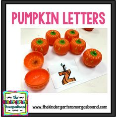 Students will learn letters with these fun pumpkin letters! Click the image for your freebie! Kindergarten Smorgasboard, Kindergarten Literacy, Letter Activities, Literacy Activities, Learning Letters, Fun Learning, Holiday Themes, Holiday Fun, Text Evidence