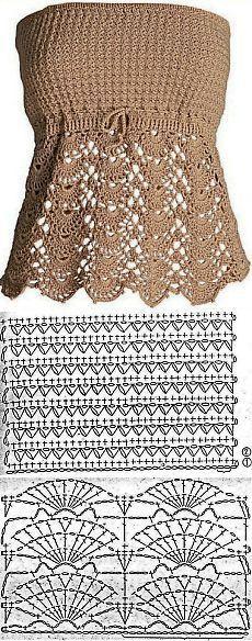 Crochet top pattern free posts 15 new ideas Tops A Crochet, Débardeurs Au Crochet, Mode Crochet, Crochet Shirt, Crochet Woman, Crochet Baby, Crochet Patterns Free Tops, Crochet Vests, Crochet Edgings