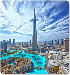 View From Burj Khalifa Observation Deck. The tallest building in the world.