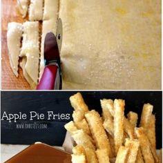 Frytki z...ciasta francuskiego z jabłkami!
