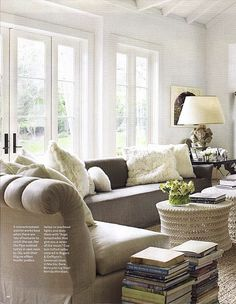 Good French doors via HB 2011 neutrals with tons of texture