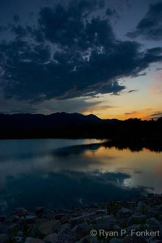 Gorgeous Sunset over Quail Lake in Colorado Springs