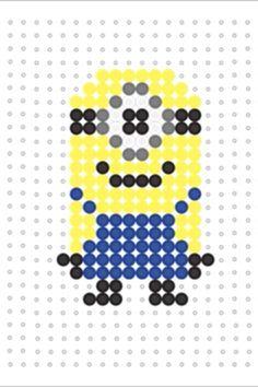 Minion Hama bead template