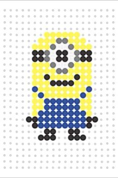 Minion Hama bead template