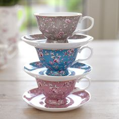 Ditsy Floral Teal Tea Cup & Saucer - Ditsy Floral - Shop By Collection