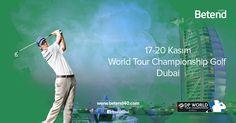World Tour Championship – Dubai Dünya Şampiyonası son ayağa gidilen yolda Dünya'nın en ünlü oyuncuları son kez bir araya geliyor. 17 – 20 Kasım tarihleri arasında BAE – Dubai'de gerçekleştirilecek olan organizasyonda Dünya sıralamasının en iyileri seri başı olabilmek için mücadele edecek. Sizler için #Enyüksekbahisoranları #Betend'de. Betend #golf severler ile de birlikte. Yarın: 09.15 http://betend40.com