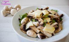 Insalata di funghi champignon e grana