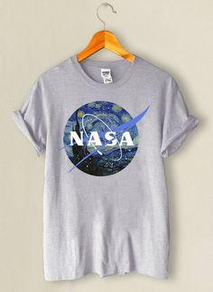 13e02e90d0 Camiseta NASA Van Gogh Mescla Camiseta Vans Feminina