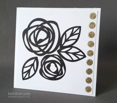Essentials by Ellen stamps and dies called Bold Blossoms