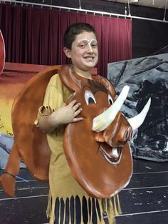 A Pumbaa costume DIY was no where to be found! Design this one out of 2 inch foam