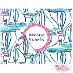 Lilly Pulitzer Personalized Foldover Note Docksider