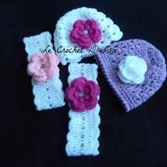 Reserves  commande  2 bonnets  2 bandeaux  au crochet
