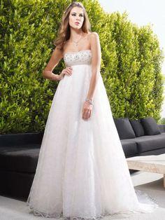Weddinggowns Weddingdresses Strapless Maternity Wedding Dress With Empire Garden Dresses