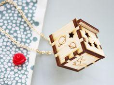 Wood locket via Etsy. Wood, so different than other lockets. Opens, so different than other wood necklaces.