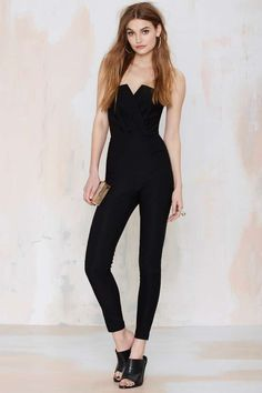 Nasty Gal Suspicious Minds Jumpsuit - Black