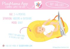 This learning game for 2-4 month old babies is from our PlayMama App and is great for when your little one is feeling tired but still needs some entertainment and stimulation! Find out what key skills it can help your child develop here: http://www.behappymum.com/playmama/ Baby Learning, Learning Games, 4 Month Old Baby, 4 Month Olds, Learning Through Play, 4 Months, Little Ones, Tired, Babies