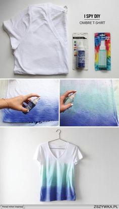 diy cieniowany t-shirt - śliczny!! na Oops! I diy it again ;) - Zszywka.pl