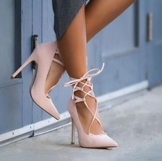 Lace up for the day in the Clarissa heels. #ShoeDazzle #shoes #shoefie