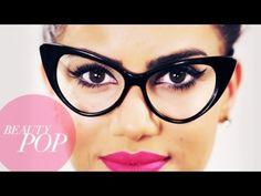 Nerd Chic: Cat Eye Makeup for Glasses - Beauty Pop! with #CamilaCoelho #youtubebeautyguru