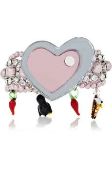 miu miu crystal charm bracelet