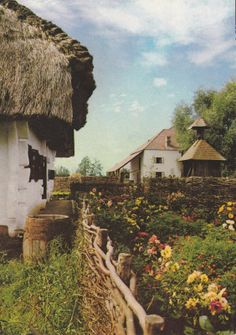 post card old village Hungary Post Card, Country Life, Time Travel, Beautiful Places, German, Bucket, Farmhouse, Houses, Cozy