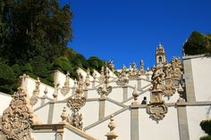De trappen van Bom de Jezus bij Braga Portugal