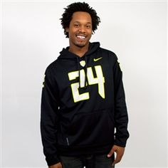 Black Nike Oregon #24 KO ThermaFIT Hoodie Sweatshirt