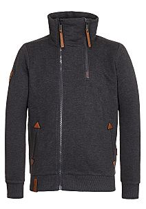 naketano Du Affenmensch - Hooded Jacket for Men - Grey