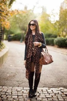 Touch of leopard for the fall #fall outfit