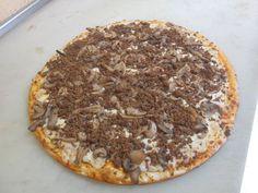 Pizza Champiñones / Carne Molida