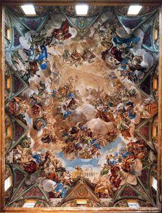 La Gloria de la Monarquia Hispánica (Luca Giordano, 1693). Monasterio de San Lorenzo el Real de El Escorial.