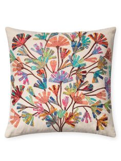 Embroidered Pillow by Loloi Pillows at Gilt