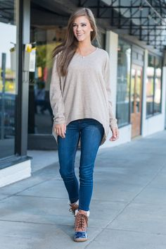 """""""Lazy Sunday Sweater, Camel"""" By the time Sunday rolls around all you want to do is relax. You had a long work week and are worn out from all the fun exciting things you did on Saturday!  #newarrivals #shopthemint"""