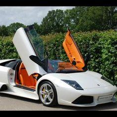 White Lamborghini Murcielago
