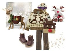 """""""Reindeer Fun - Boys Outfit For Winter"""" by bitzkidsnyc ❤ liked on Polyvore featuring D&Y"""
