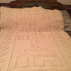 Pattern includes a counted graph, yarn requirements.