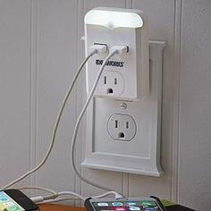 USB Outlet w/Night Light @ Fresh Finds