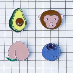 Buy Metal Peach Blueberries Avocado Monkey Collar Pins Badge Corsage Brooch at Wish - Shopping Made Fun Wholesale Gemstones, Wholesale Jewelry, Wholesale Fashion, Pins Badge, Cute Avocado, Discount Jewelry, Other Accessories, Brooch Pin, Fashion Jewelry