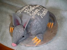 Armadillo Cake... and yes, its red velvet!  www.contemporarycakery.com