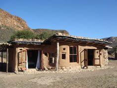 Baviaanskloof Cob Cottage at Cedar Farm, Baviaanskloof. Cob Houses, Farm Houses, Natural Homes, Amazing Places, South Africa, The Good Place, Places To Go, Nerd, Floor Plans