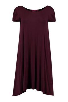Selma Cap Sleeve Jersey Swing Dress
